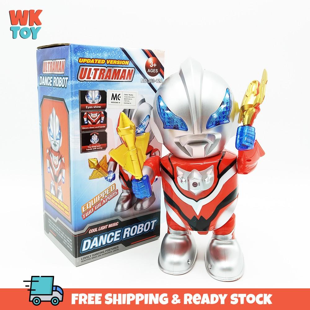 WKTOY Ultraman Dance Robot Cool Light Music Toy