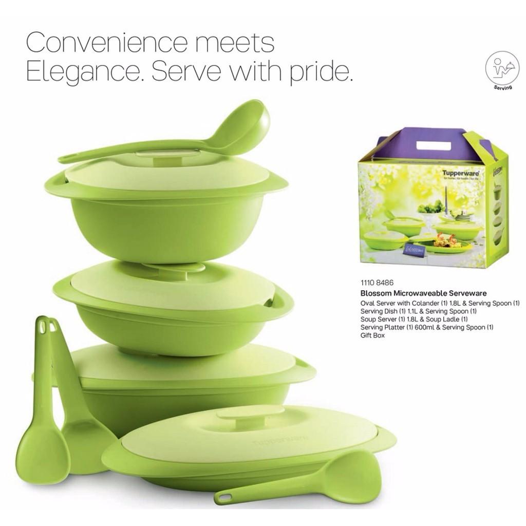 Tupperware Blossom Microwaveable Set