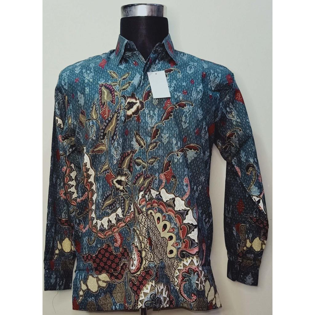Baju Kemeja Batik Lengan Panjang 100% Silk Batik High Quality - Batik Original Indonesia
