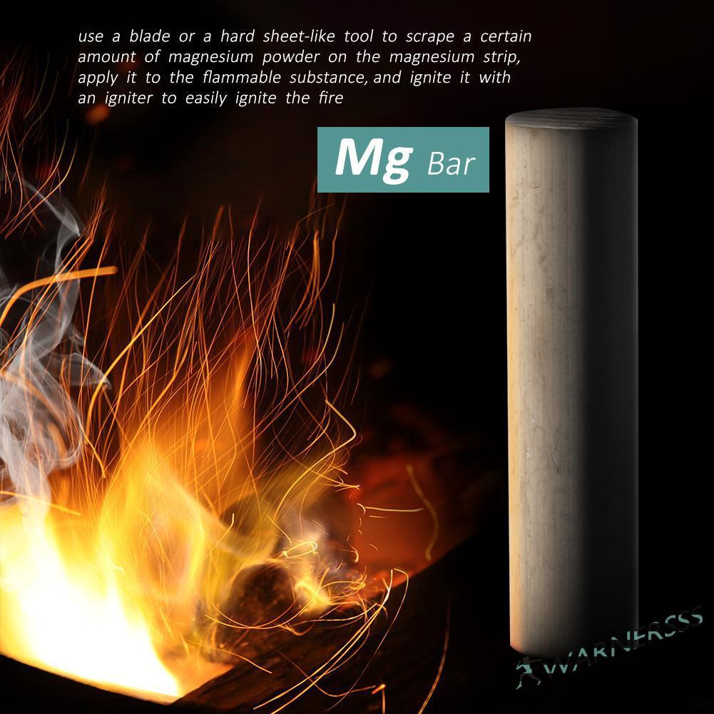 1 PC Solid Magnesium Bar Magnesium Strip Outdoor Camping Fire Ignition Igniter