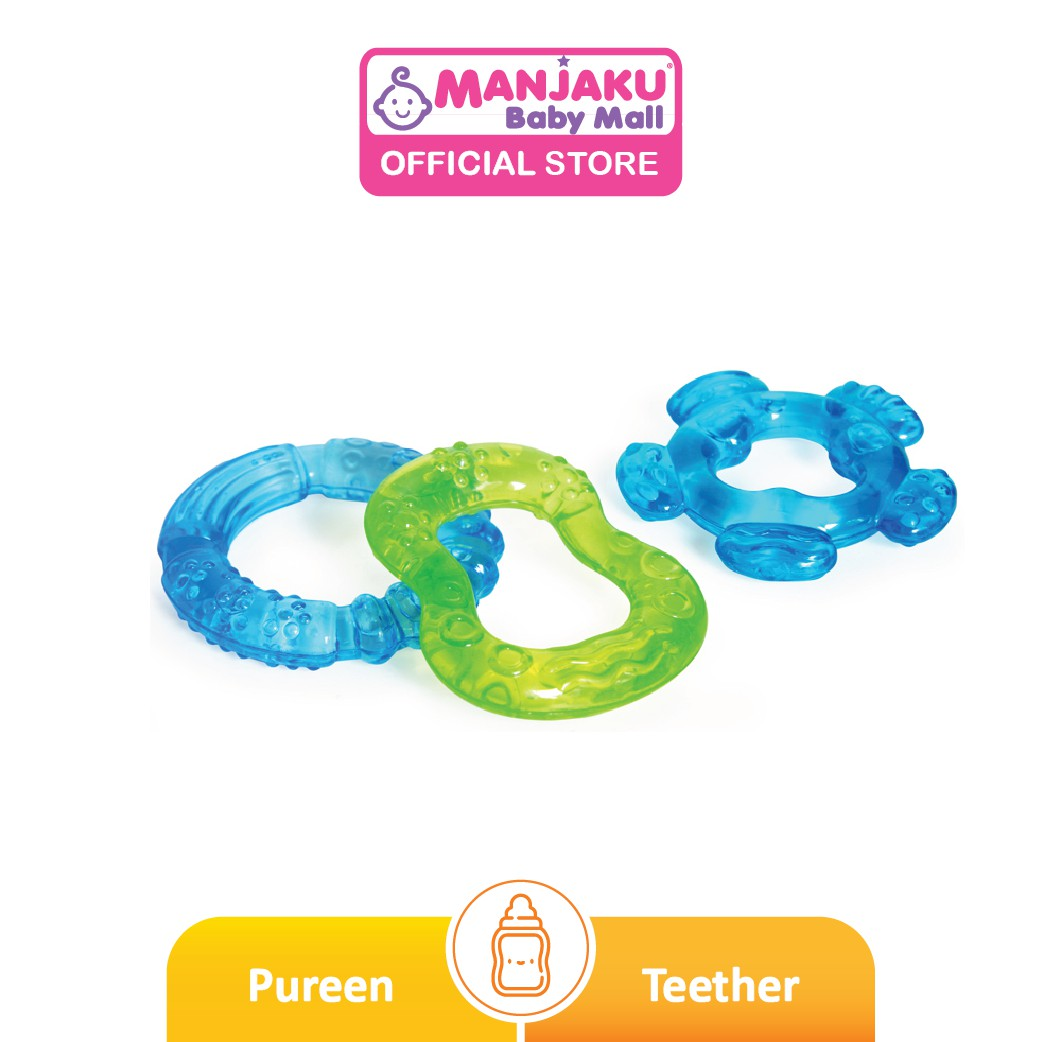 Pureen Colourful Water Filled Teether 3's (Assorted)
