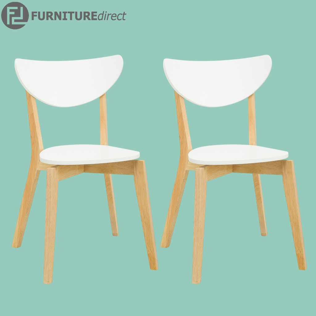 Furniture Direct Pair of NAIDA solid wooden dining chair/ designer chair/ kerusi makan