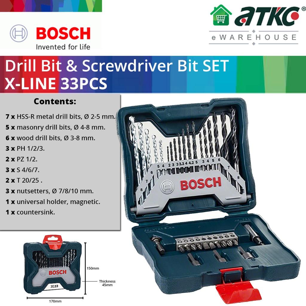 BOSCH X-Line 33PCS Drill Bits & Screwdriver Bits Set (2607017398)