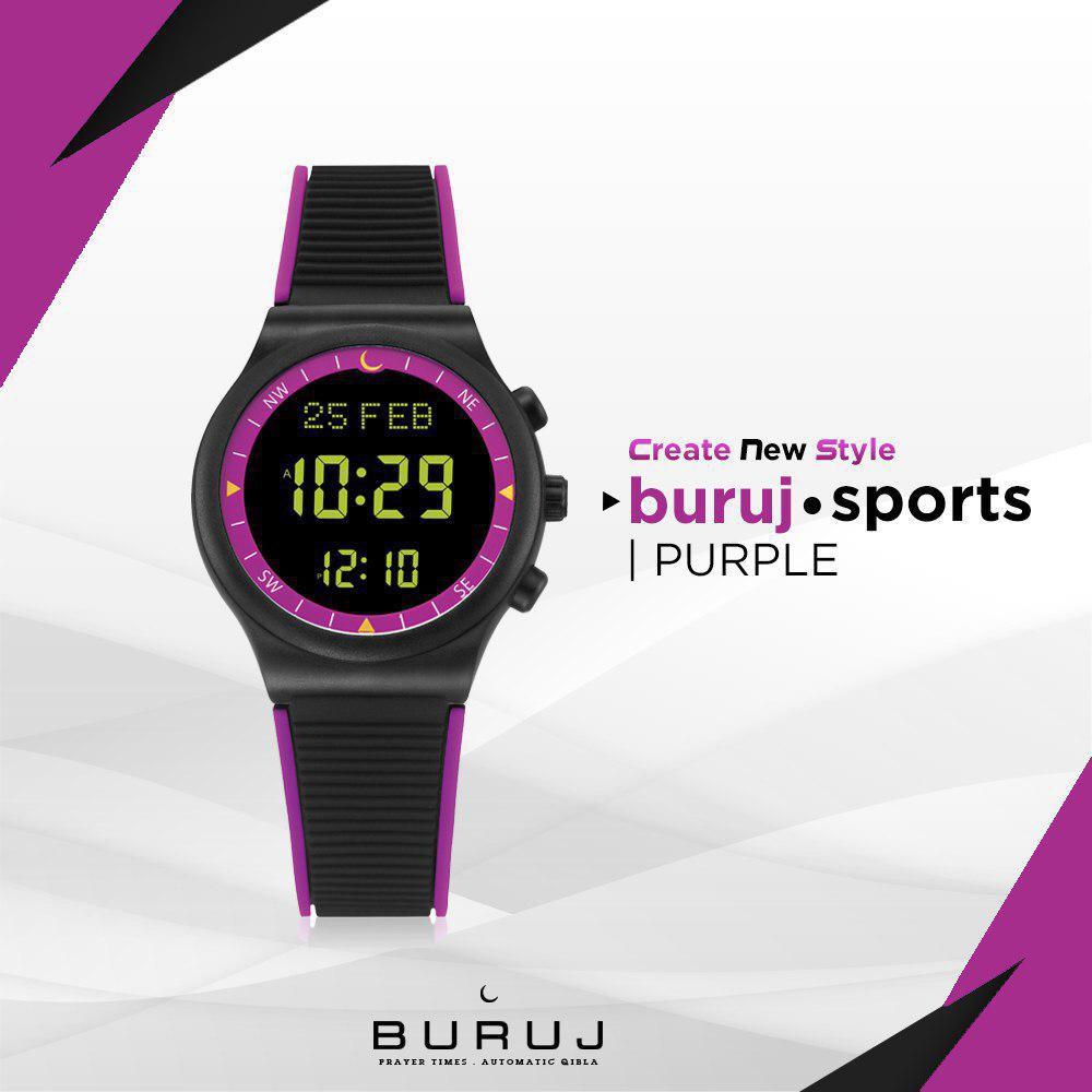 Prelove Buruj Watches Buruj Sport Purple Jam Tangan Azan & Kiblat
