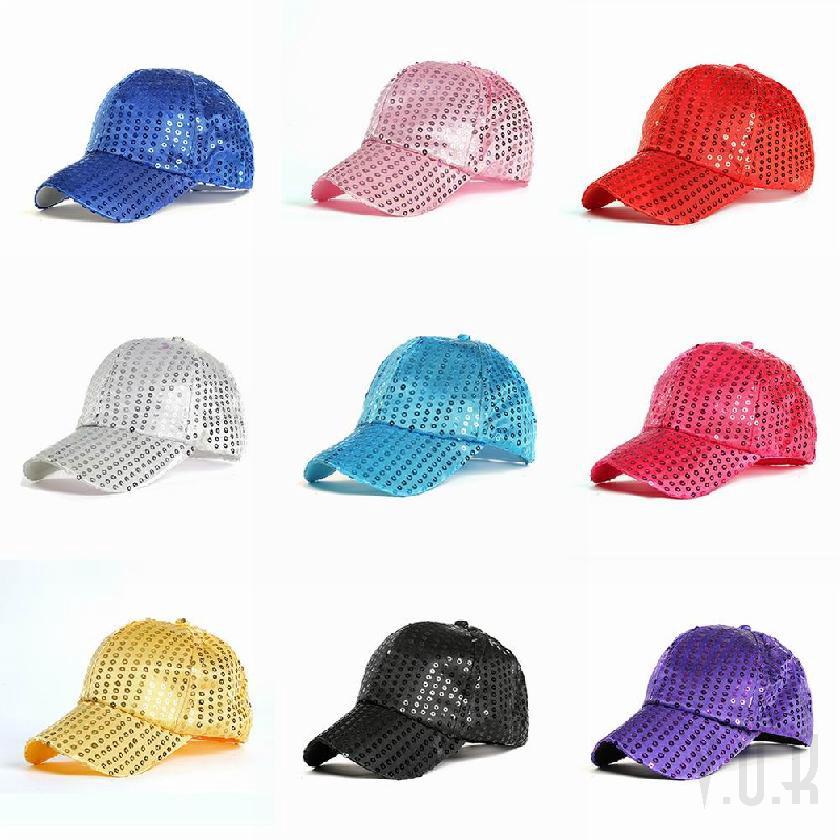 de32e0696 VOK Multi-color style fashion sequin baseball cap cotton cap breathable