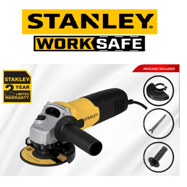 """READY STOCK!!!!STANLEY STGS6100-XD 4"""" GRINDER 100MM 680W SMALL ANGLE GINDER 11,000 RPM  EASY USE SAFETY GOOD  QUALITY"""