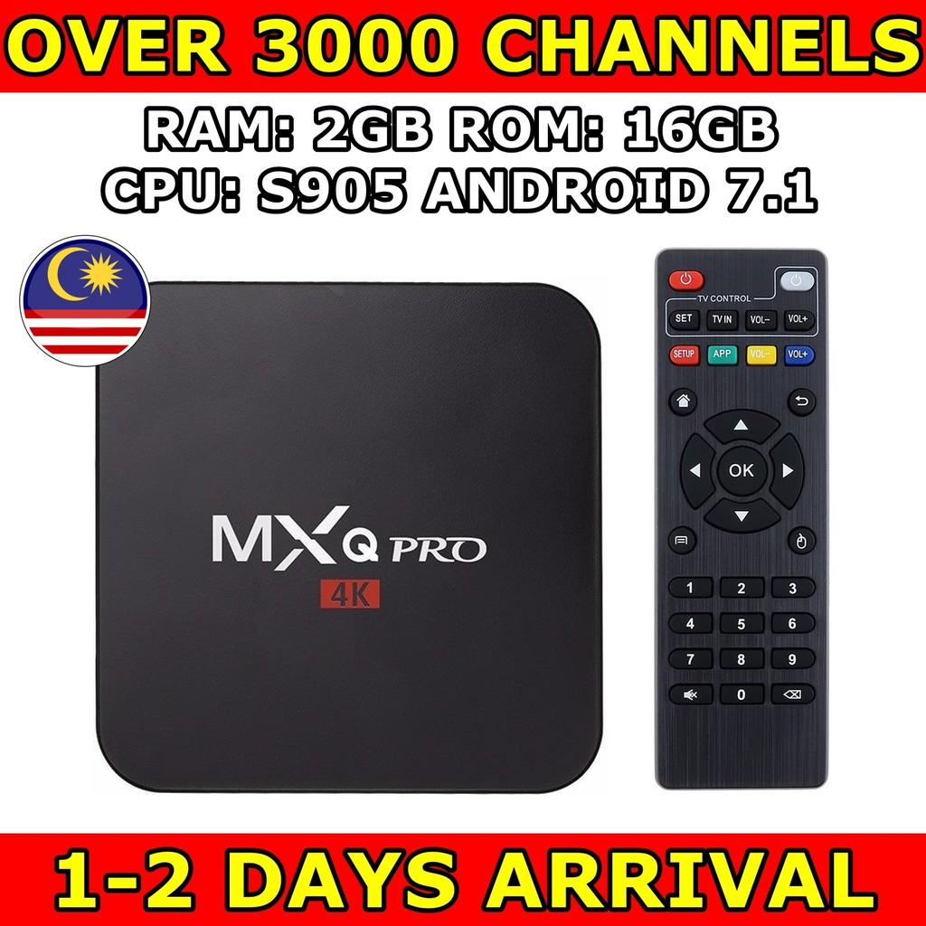 [PREINSTALL LATEST APPS] MXQ PRO 4K 2GB 16GB S905W TV BOX ANDROID KODI astro