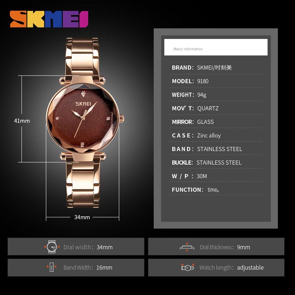 SKMEI Women Quartz Watch Elegant Top Brand Luxury Ladies Simple Casual Womens Wristwatch Stainless Steel Watch | Shopee Malaysia