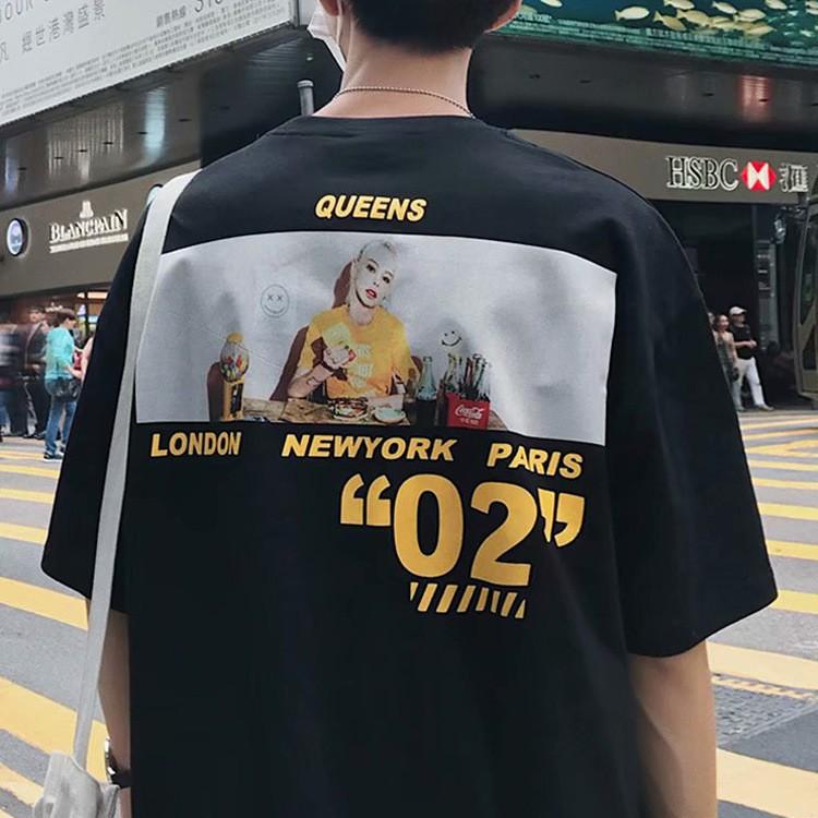 2019 new super fire short sleeve men loose T-shirt hip hop tide brand  couple hal