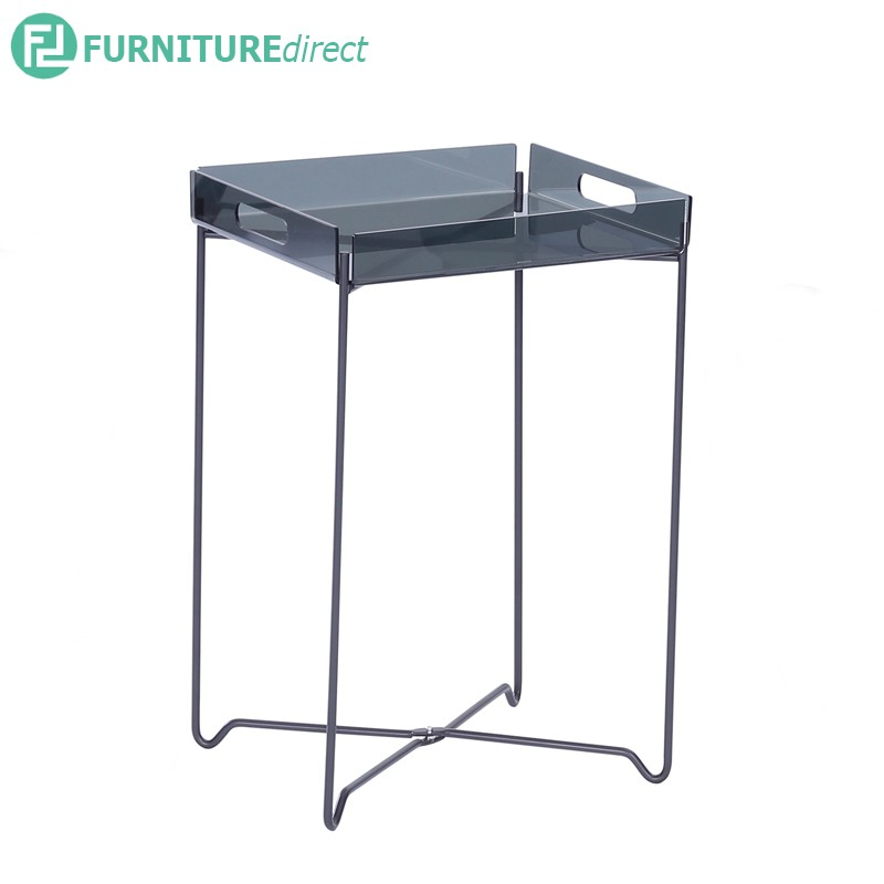 Campbell Occasional Table in Clear Acrylic top with Chrome colour leg