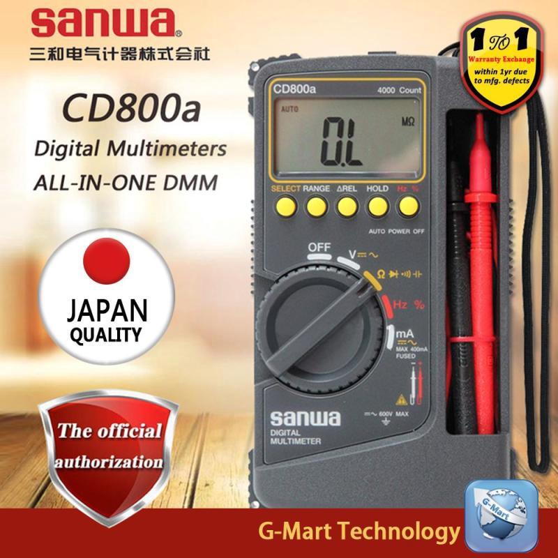 SANWA CD800A DIGITAL Multimeter DMM 4000 Volt Counter Tester Meter