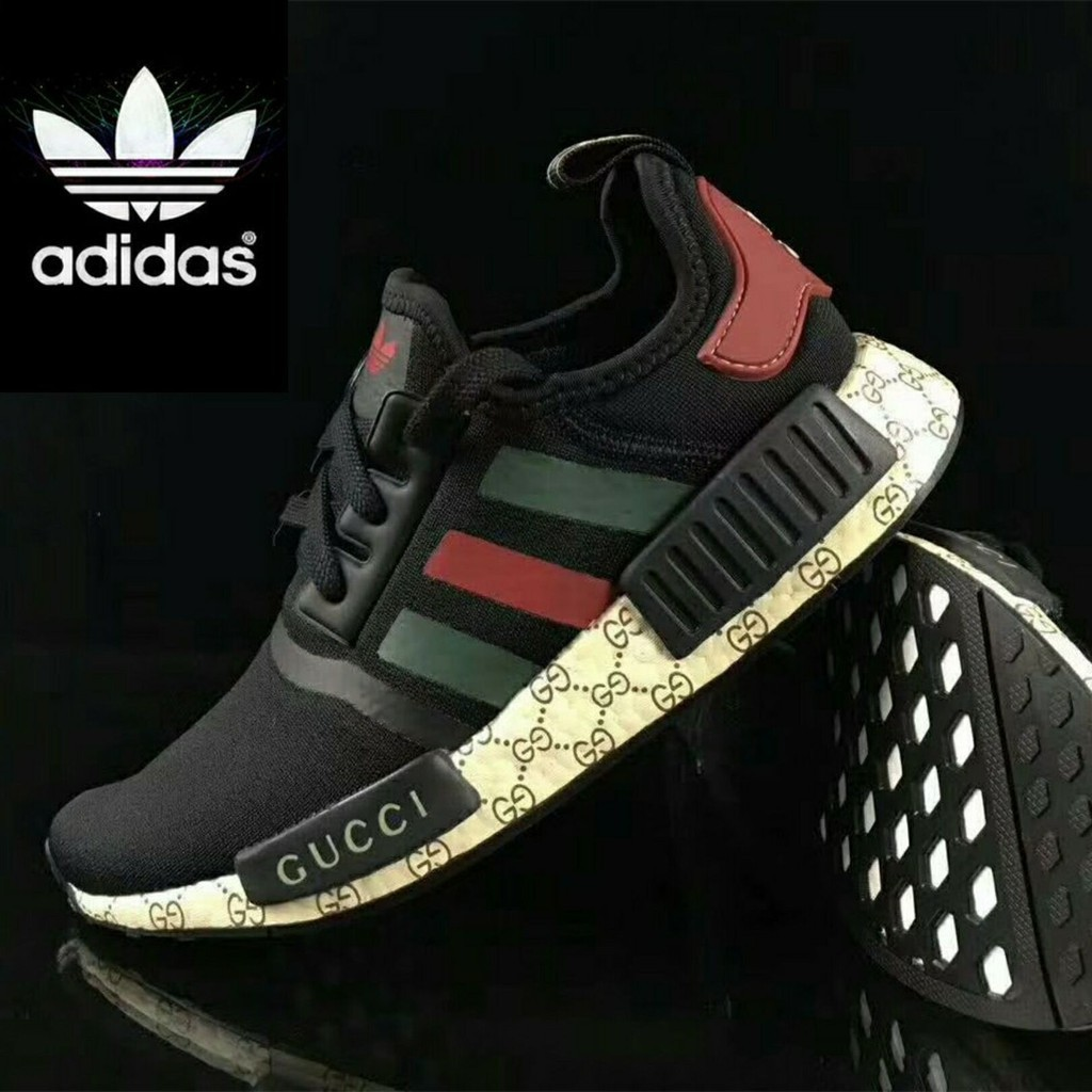 outlet store d7e82 2903b HOT ITEM  100%Original Gucci x Adidas NMD-R1 sneakers BLACK for men or  women   Shopee Malaysia