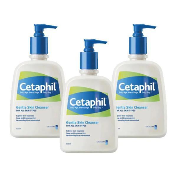 Cetaphil Gentle Skin Cleanser 500ml X 3 bottles