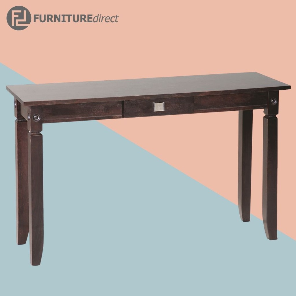 KERMIT 4 feet solid wood console table with 1 drawer/ study desk