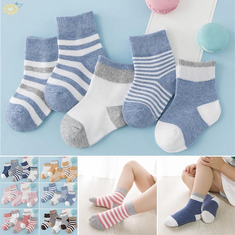 bc494b725adb0 Soft Socks Striped Ankle Length Anti slip Girls Kids Unisex Cartoon ...