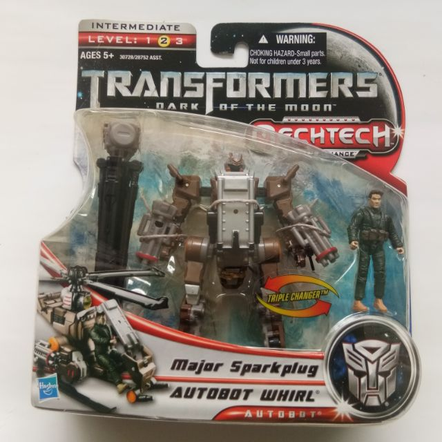 TRANSFORMERS HUMAN ALLIANCE BASIC AUTOBOT WHIRL WITH MAJOR SPARKPLUG MISC  NEW