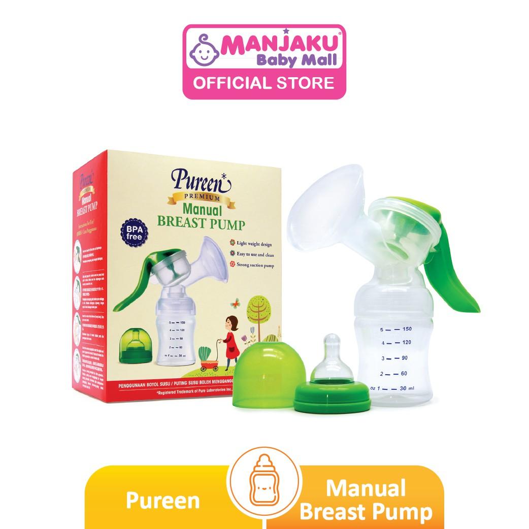 Pureen Manual Breast Pump - Wide Neck (Assorted)