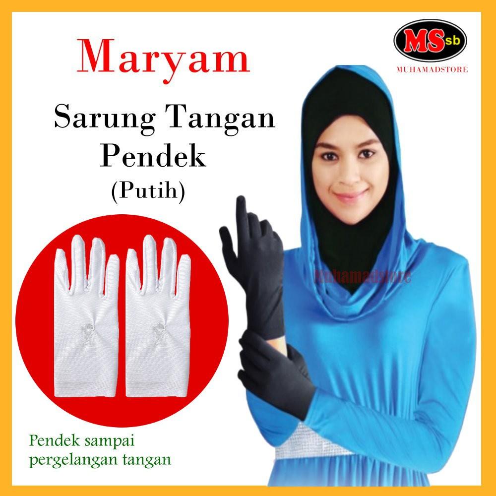 SARUNG TANGAN PENDEK MARYAM (PUTIH)
