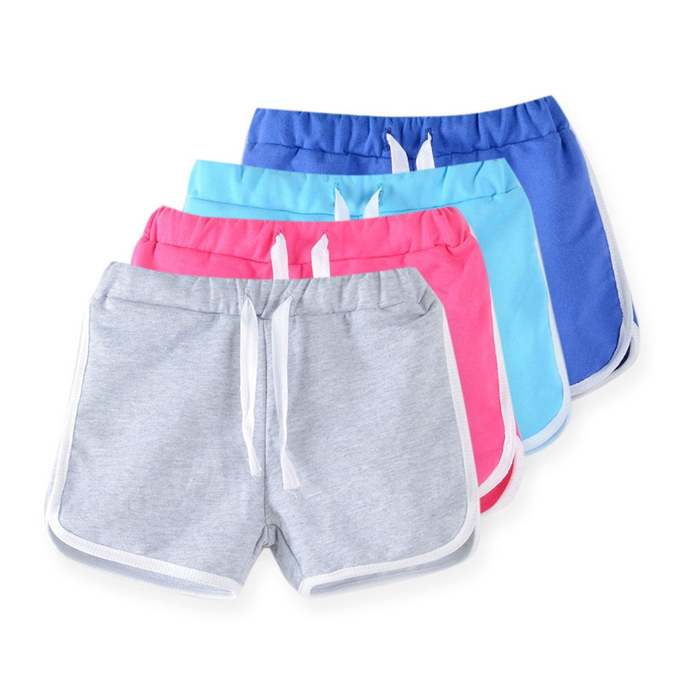 Ready StockGirls Sport Shorts Panties Soft Cotton Baby Boxer Children's Clothes Teenager Pants Pure Color 3-13Y