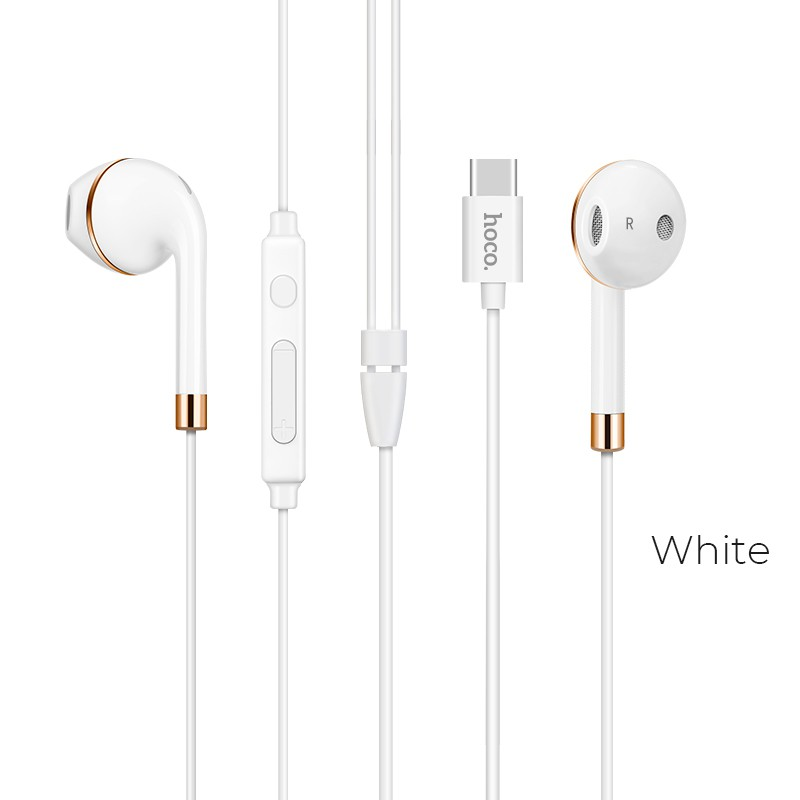 HOCO L8 Type-C Bluetooth V4.2 earphones with microphone USB-C interface TPE high elastic cable wire controllable earbuds