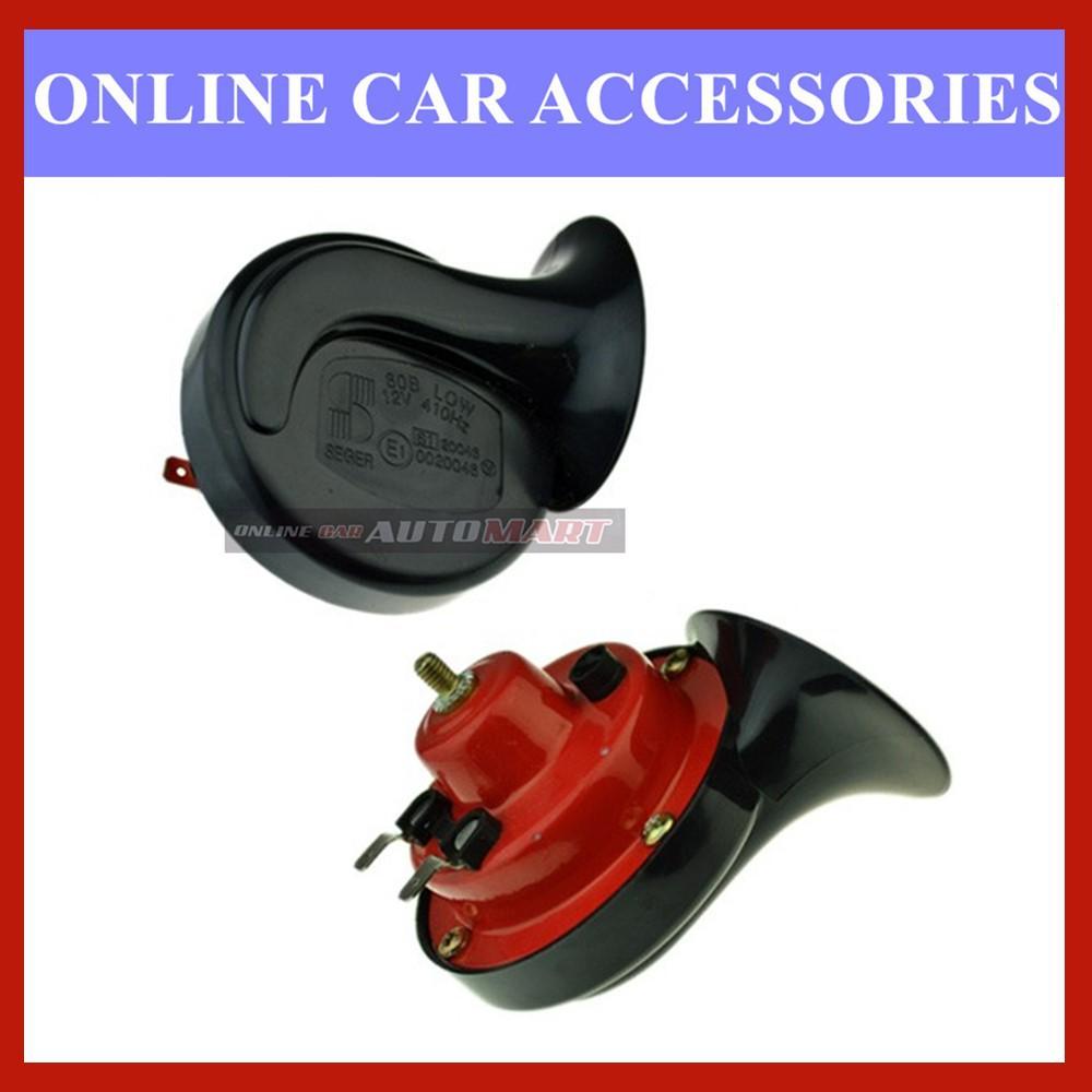 SEGER 60B Car Motorcycle Electromagnetic Shell Horn-Pair