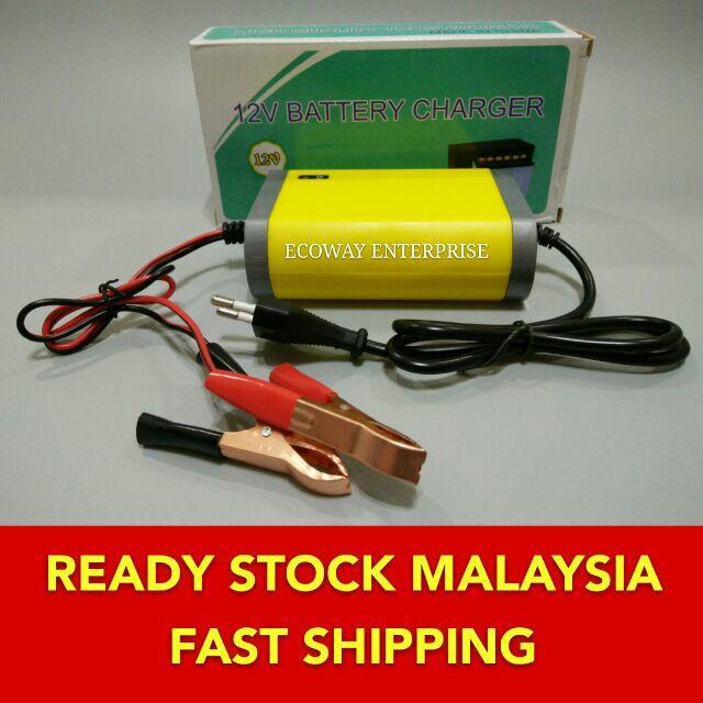 12V/24V 10A/6A Auto car Battery Charger Bateri Acid car bike motobike motosikal | Shopee Malaysia