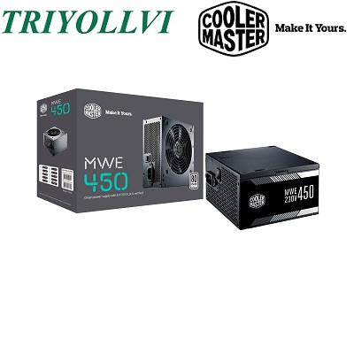 Cooler Master MWE 450W Power Supply 80PLUS ECO PSU (MPW-4502-ACABW-UK)