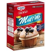 Dr.Oetker Nona Muffins - Blueberry Flavour @ 425g ( Free Fragile + Bubblewrap Packing )
