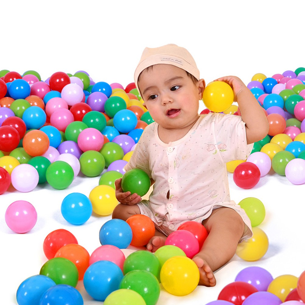 100pcs 7cm Colorful Ocean Ball Soft PE Funny Baby Kids Secure Swim Pit Pool Toy