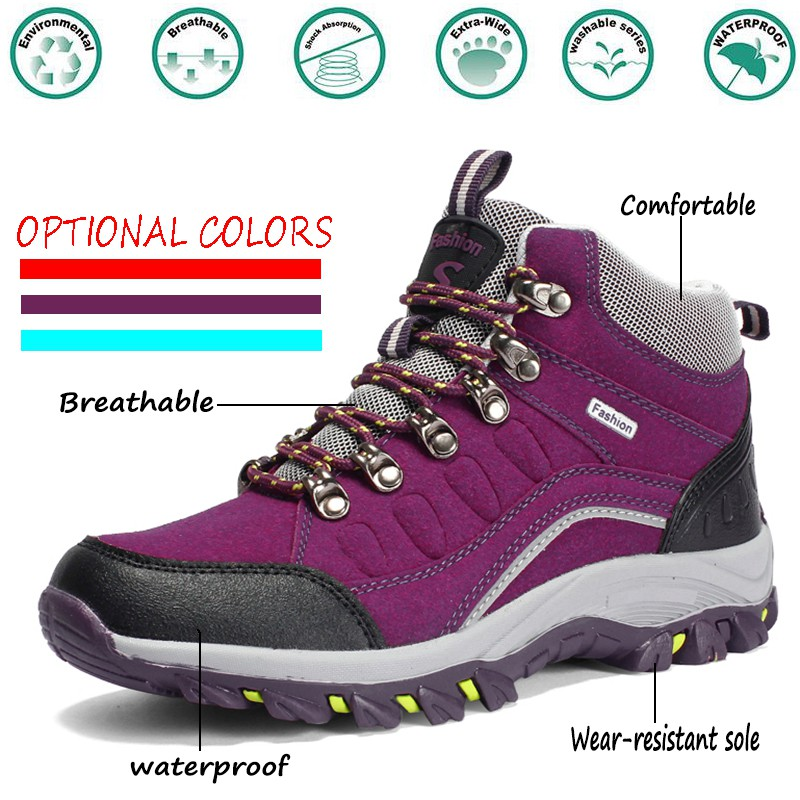 5d4d0dc73c6 Lovers Wear Non-Slip Trekking Sneakers Mountains Climbing Hiking Shoes