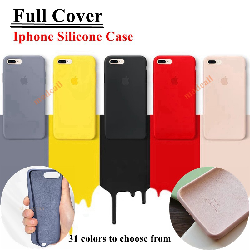 【Fully Covered】เคสซิลิโคน Iphone Silicone Case For IPhone 6/6splus/7/8/7plus/8plus/X/XS/XR/