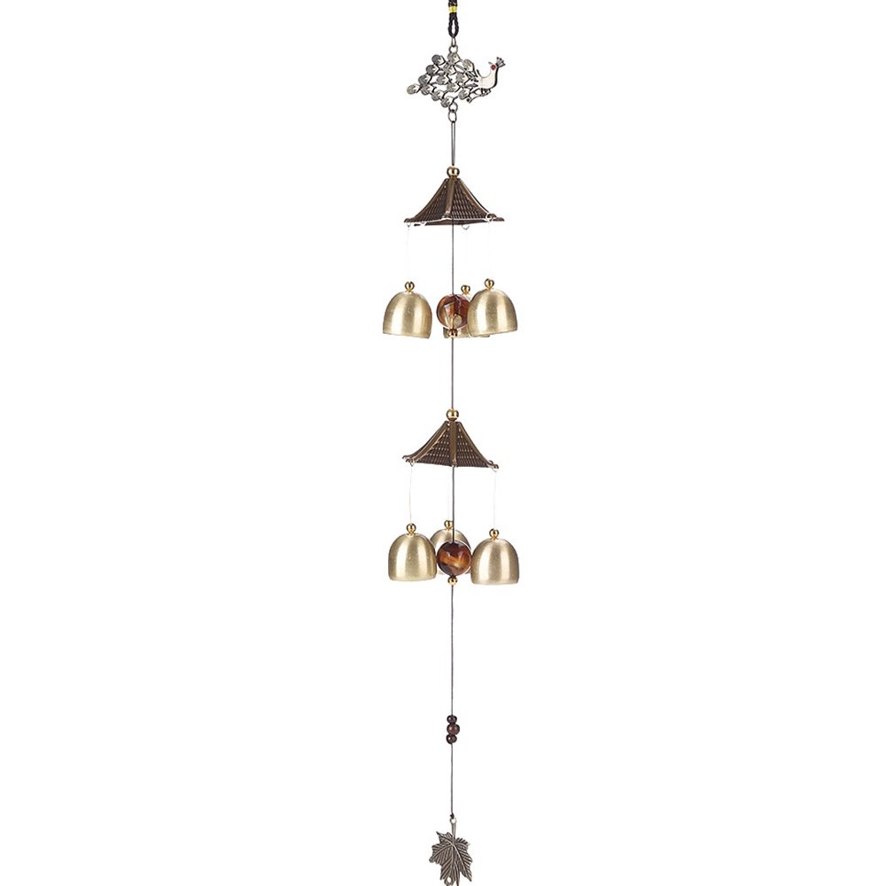 Ornament Wind Chimes Solid Metal 4 Tubes Crisp Sound Bell Lucky Decoration Gift
