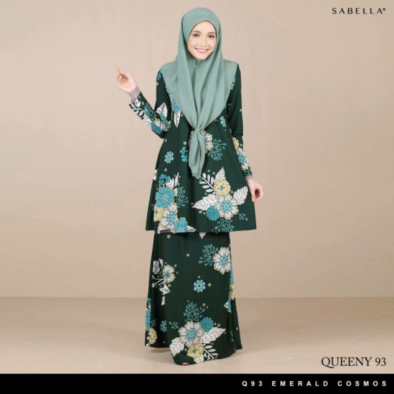 Sabella Queeny Kurung 93 Available XS,S,M,L,XL,2XL  (Ready Stock)