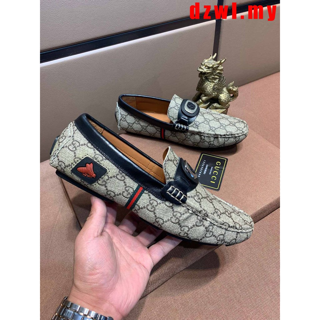 5bcddccdcb6ef GUCCI Men's New Fashion Peas Shoes Lazy Shoes Driving Shoes | Shopee  Malaysia
