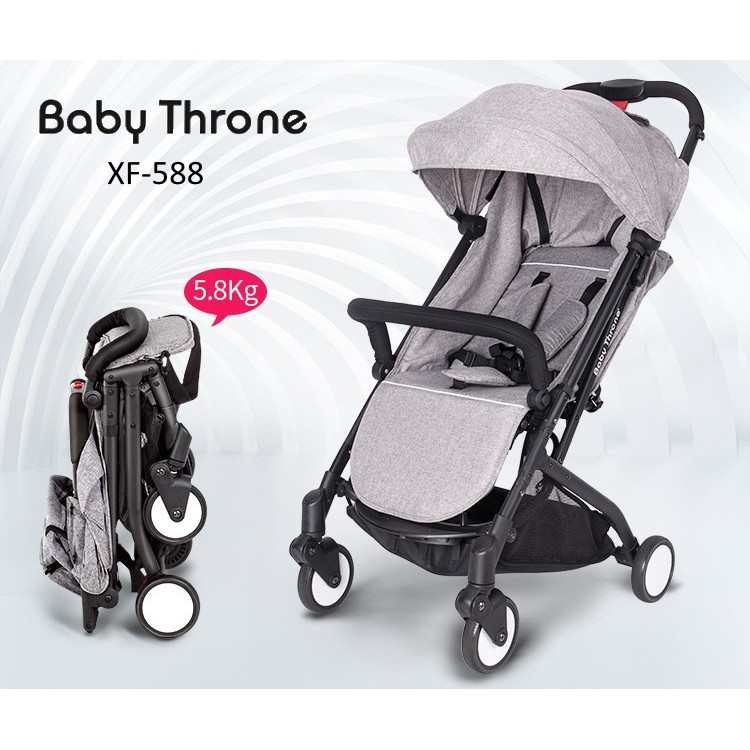 Baby Throne Plus Xf 588 Lightweight 5 8 Kg Baby Stroller With Pulling Rod