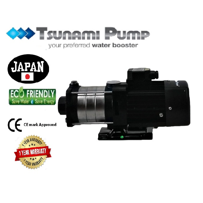 Tsunami CMH4-40T Three Phase Home Horizontal Multi-Stage Pump Water Pressure Pump Booster Pump【1 Year Warranty】