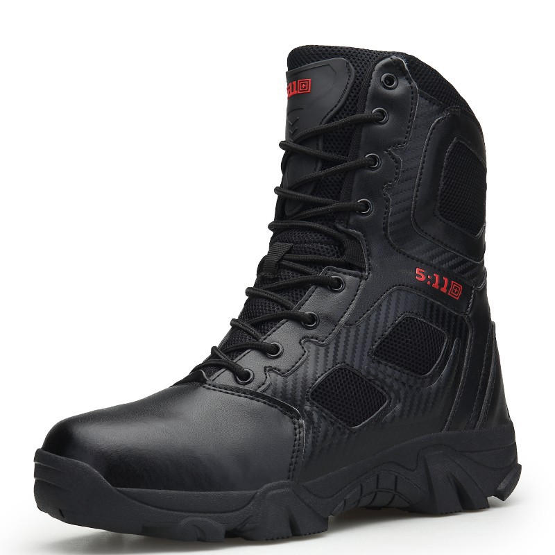 c96e5ad160c 🎉Sport Army Men's Tactical Boots Outdoor Hiking High Top Combat Swat Boot  39-47