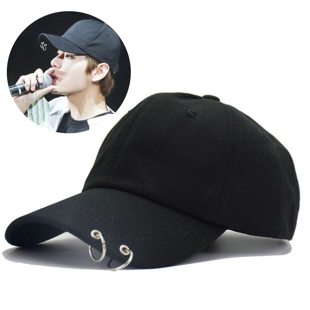 KPOP BTS Live The Wings Tour Hat Bangtan Boys Ring Adjustable Baseball Cap  Black  913e8d773ea9
