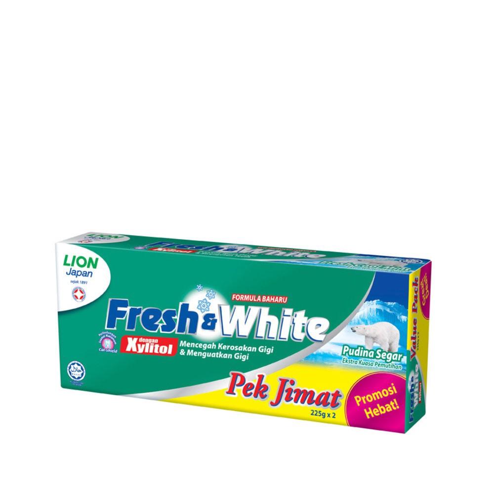 Fresh Cool Mint 2 X 225g Twin Pack White Shopee Malaysia Colgate Cavity Protection Pasta Gigi 180g 4 Pcs