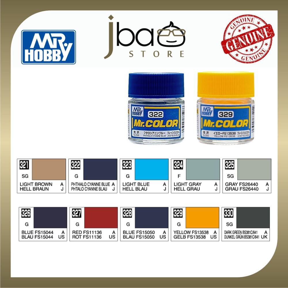 Mr. Hobby Mr.Color C321 - C330 10ml Color Paint Air Brush Package Set
