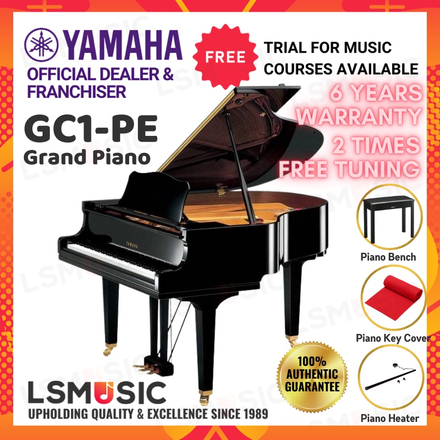 "YAMAHA GRAND PIANO GC1 5'3"" - New / Open Unit - GC1 PE / PM / SAW / PW"