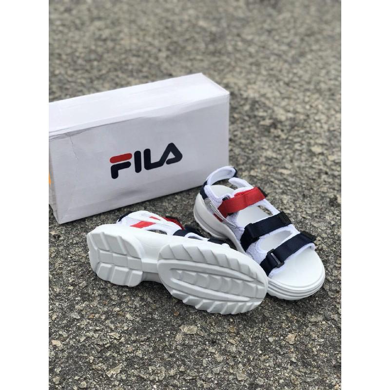 Fila White Disruptor Sandal Navy Red TlJcK1F