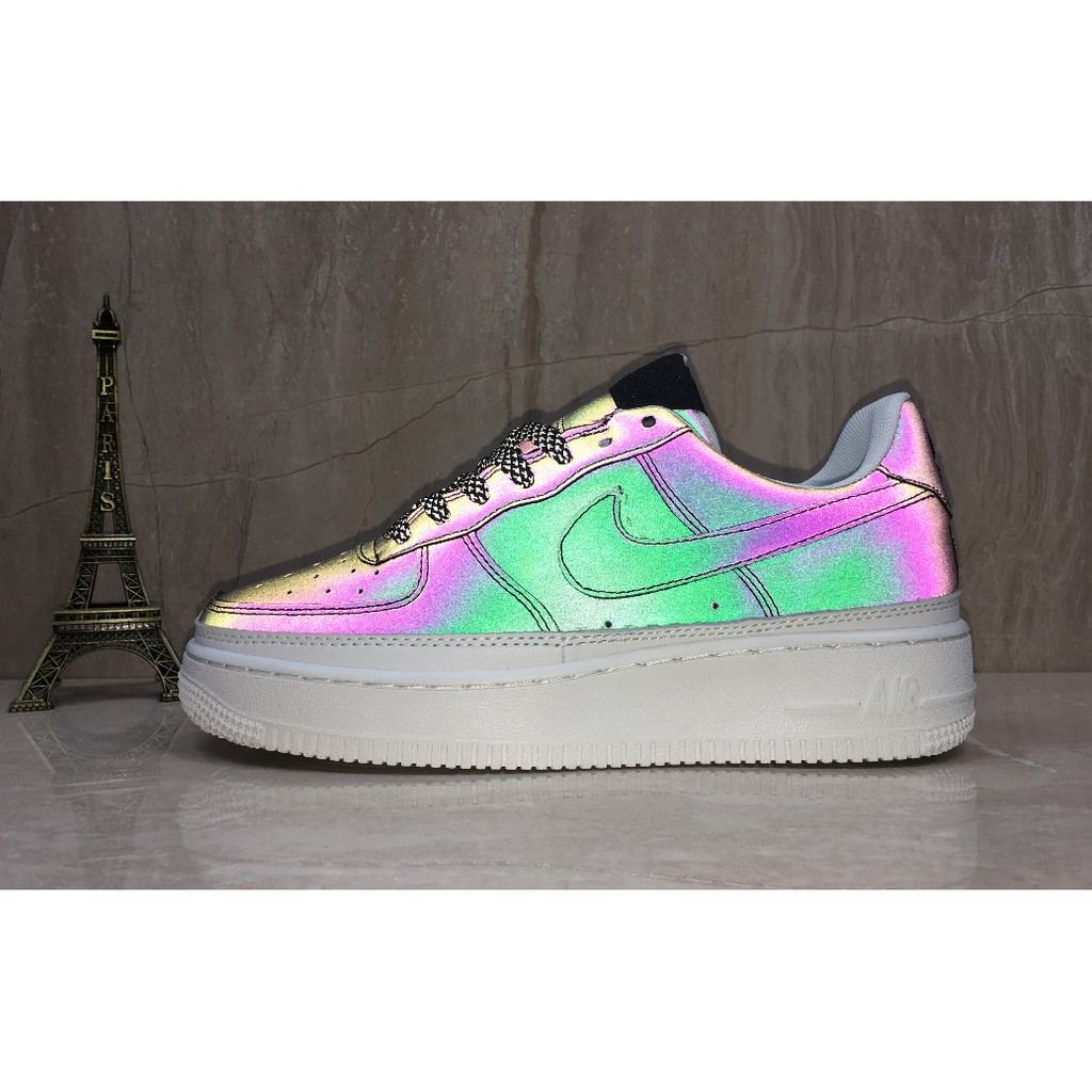 100%Nike air force 1 mid air force one chameleon