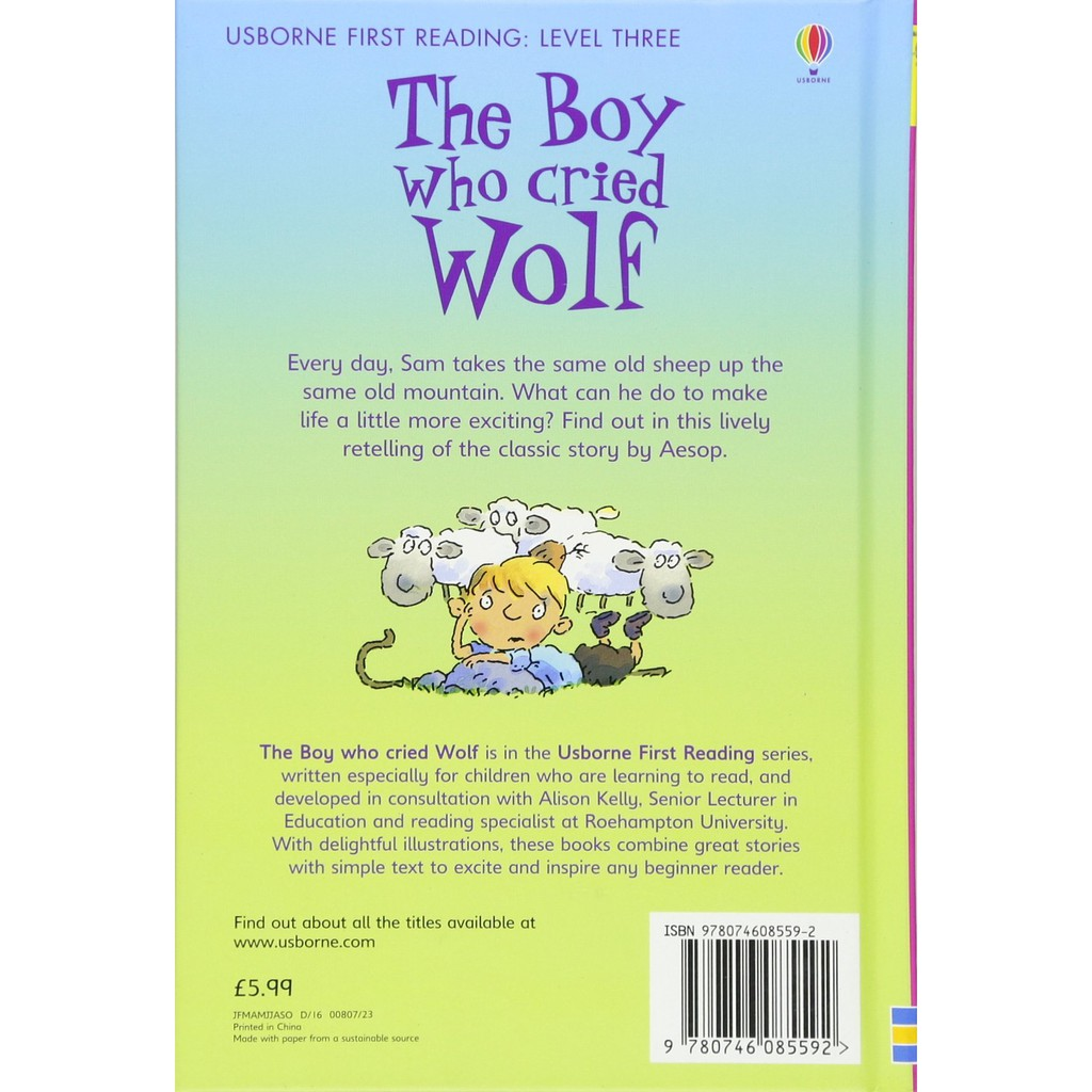 The Boy Who Cried Wolf - First Reading Level 3 , ISBN : 9780746085592