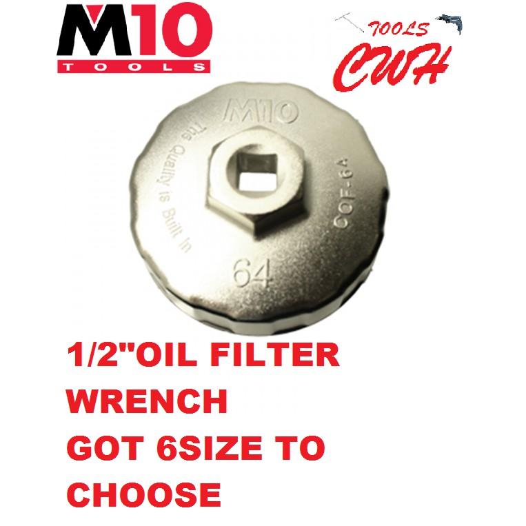M10 1/2″ ALLUMINIUM CUP OIL FILTER WRENCH