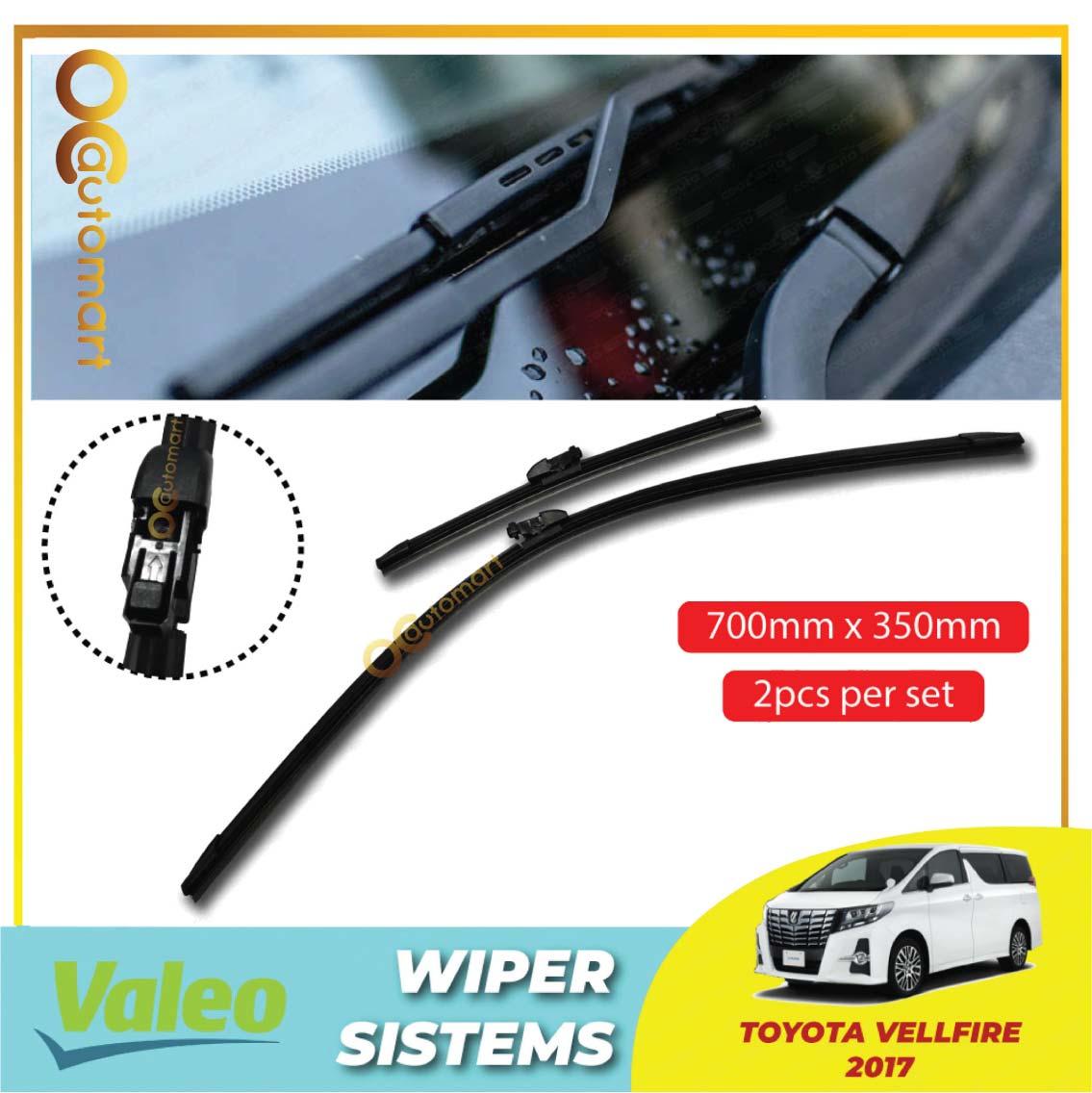 "Toyota Vellfire ANH30 2015-2020 Valeo First Windscreen Flat Wiper Blade (28""/14"")"