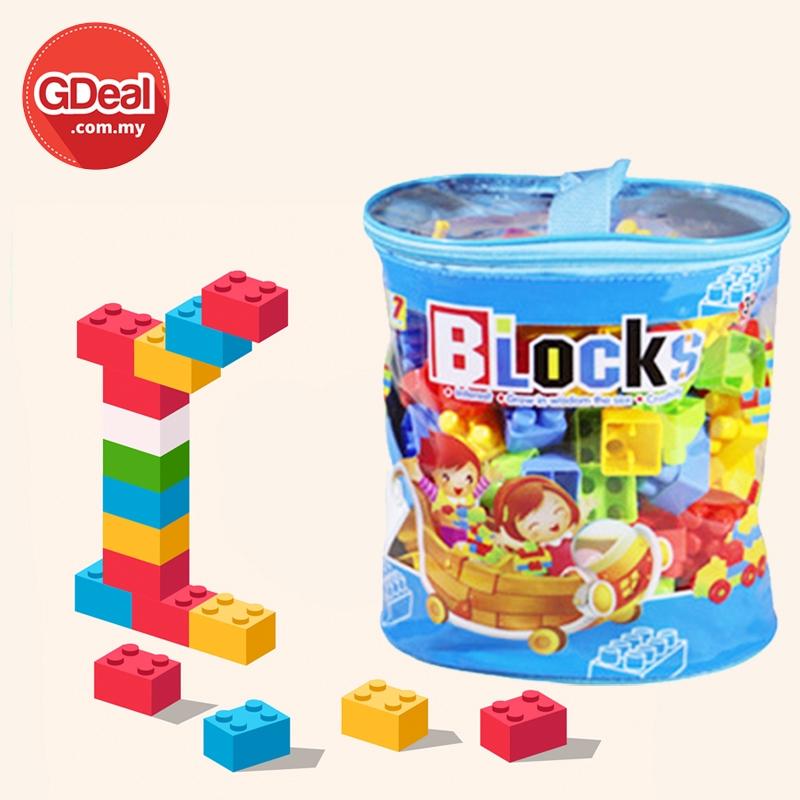 GDeal 100pcs Cylindrical Tote Bag Building Blocks Early Learning Lego Creative Thinking Toys For Kid Mainan Lego Kanak
