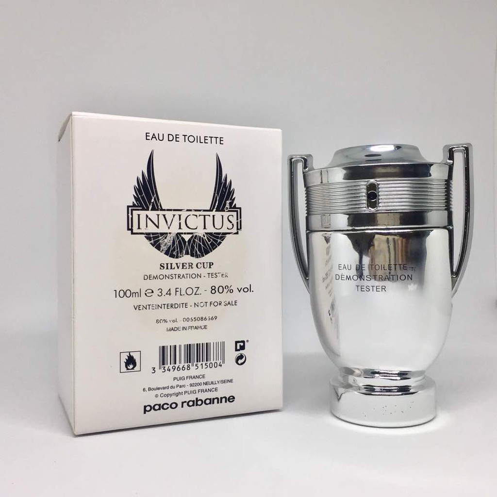 a9d17d485 PACO RABANNE Invictus Silver CUP Collector Edition 100ml ORIGINAL TESTER