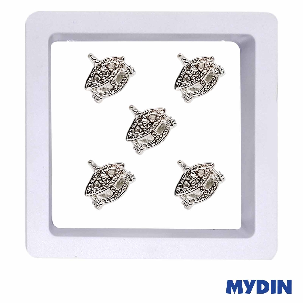 Armaan Button Wau Rhodium JP33WR790 (5pcs) #Raya
