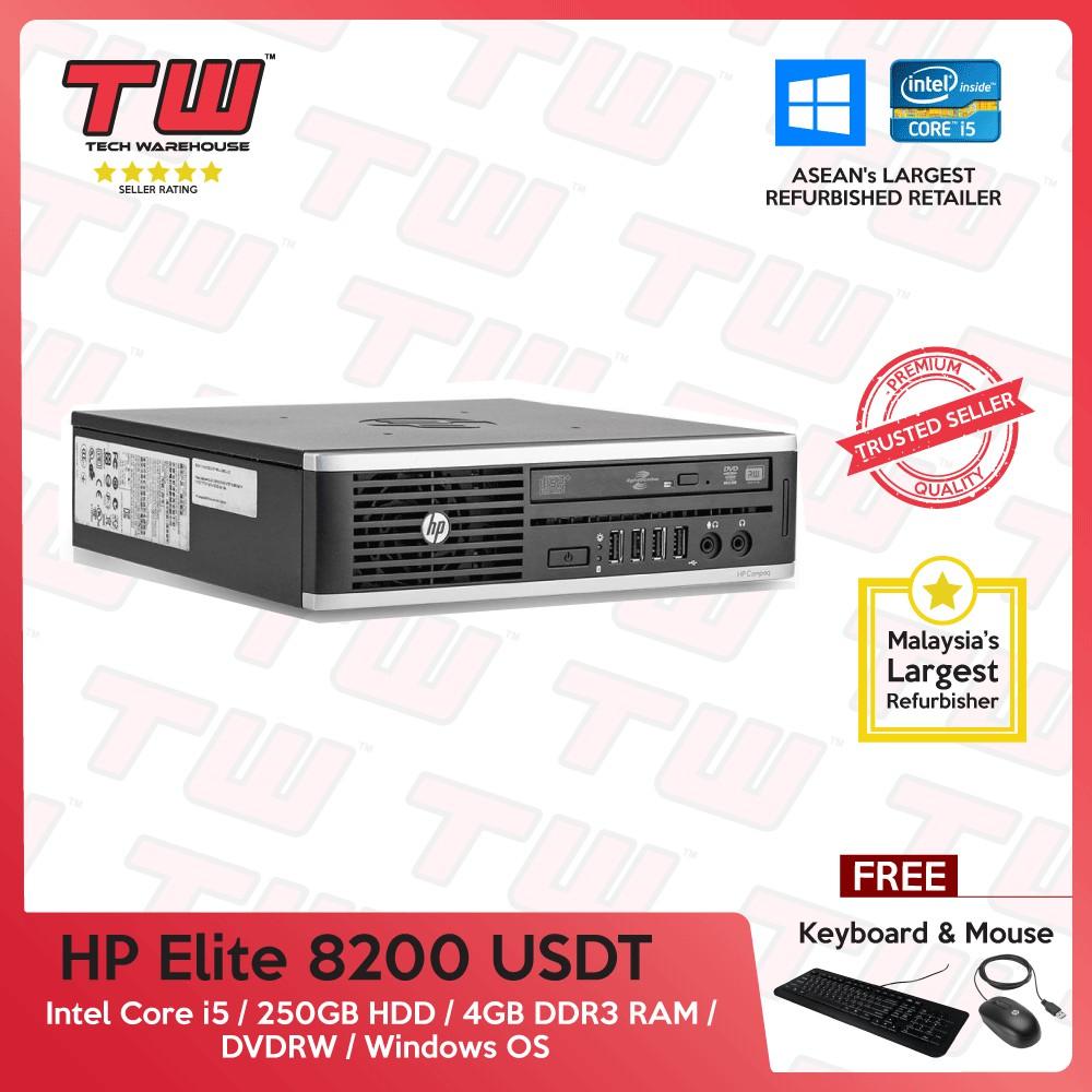 HP Elite 8200 USDT Core i5 + 4GBRAM+250GBHDD+WIN OS (Refurbished)(SPECIAL  OFFER)